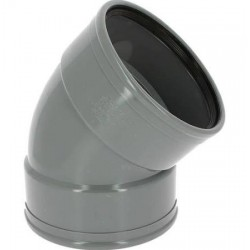 Coude PVC à Joint 45° FF Ø125 CX44G