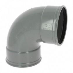Coude PVC à Joint 87° FF Ø125 CX88G