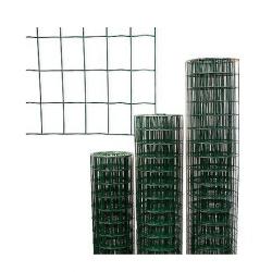 Rouleau Grillage Soudé Plastifié Vert maille Rectangulaire en 1.00 x 25ml