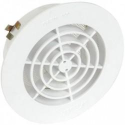 Grille Aération Intérieure PVC Blanche adaptable sur tuyau PVC