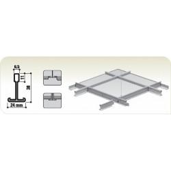 Entretoise Plafond Blanche T24 120cm