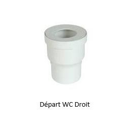 Départ WC Droit Ø100 1QW33