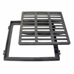 Grille Plate Fonte 400x400 + Cadre Classe 250