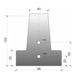 Poutrelle Précontrainte RS114