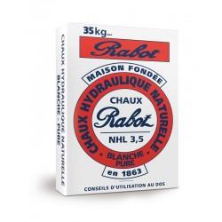Sac 35 Kgs Chaux hydraulique RABOT Blanche Calcia NHL 3.5