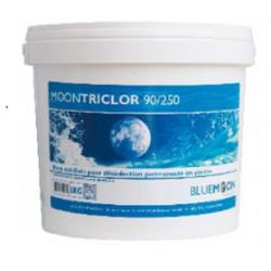 Chlore stabilisé Galets 250 grs MOONTRICLOR Seau 5 Kgs